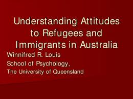 Understanding Attitudes to Refugees and Immigrants in Australia