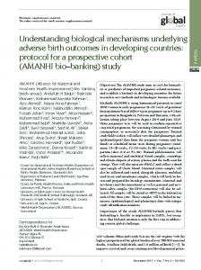 Understanding biological mechanisms underlying adverse birth ...