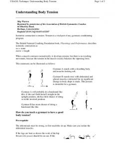 Understanding Body Tension - USA Gymnastics