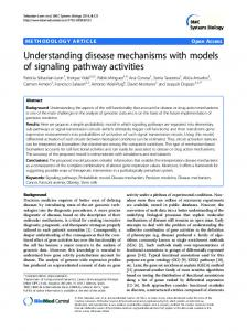 Understanding disease mechanisms with models of signaling pathway ...