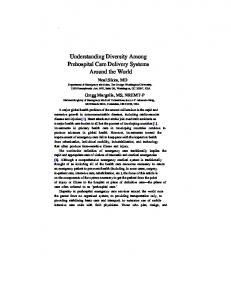 Understanding Diversity Among Prehospital Care Delivery ... - ACEP