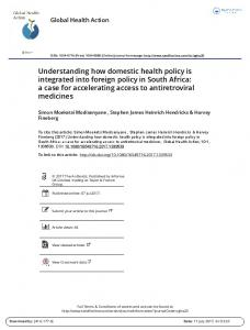 Understanding how domestic health policy is