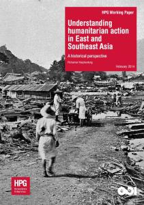 Understanding humanitarian action in East and Southeast Asia: a ...