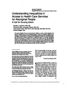 Understanding Inequalities in Access to Health Care Services for ...