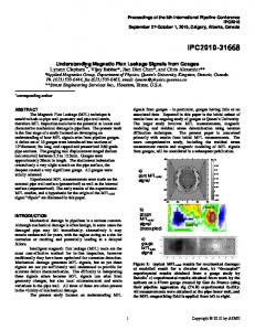 Understanding Magnetic Flux Leakage Signals From ...