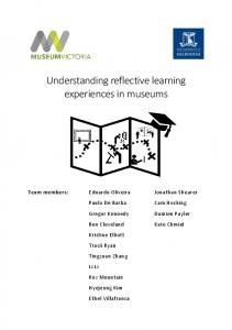 Understanding reflective learning experiences in ... - Melbourne CSHE