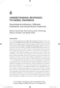 understanding responses to moral dilemmas