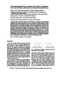 Understanding Selectivities in Ligand-free Oxidative Cyclizations of 1 ...