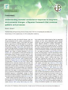 Understanding stomatal conductance responses to long-term ...