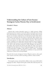 Understanding the Culture of Low-Income Immigrant Latino ... - Eric