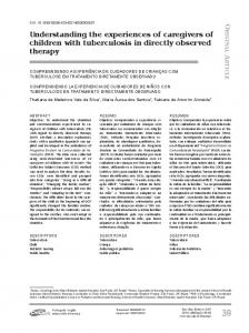 Understanding the experiences of caregivers of children with ... - SciELO