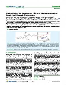 Understanding the Halogenation Effects in ... - ACS Publications