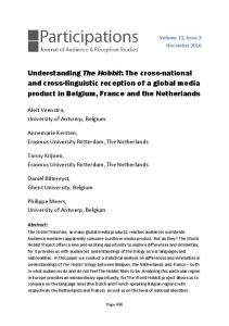 Understanding The Hobbit: The cross-national and ... - Participations