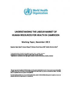 understanding the labour market of human resources for health