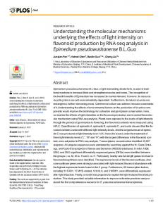 Understanding the molecular mechanisms underlying the effects of ...