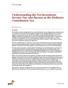 Understanding the Net Investment Income Tax, also known as ... - PwC