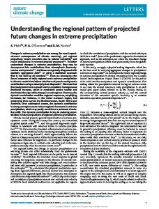 Understanding the regional pattern of projected future changes in