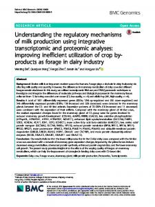 Understanding the regulatory mechanisms of milk ... - BMC Genomics