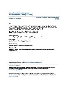 understanding the value of social media in organisations - QUT ePrints