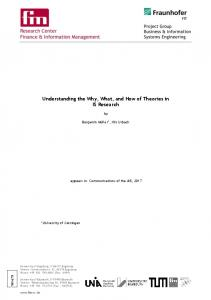 Understanding the Why, What, and How of Theories ...