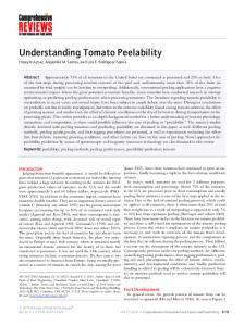 Understanding Tomato Peelability - Wiley Online Library