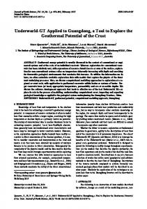 Underworld-GT Applied to Guangdong, a Tool to ... - Springer Link