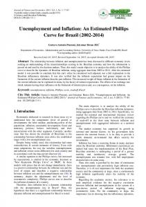 Unemployment and Inflation: An Estimated Phillips Curve for Brazil ...