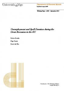 Unemployment and Spell Duration during the Great ... - Dialnet