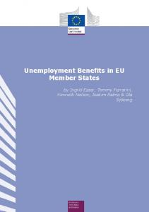 Unemployment Benefits in EU Member States - European Commission
