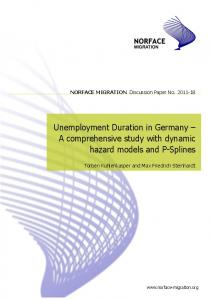 Unemployment Duration in Germany - NORFACE Research ...