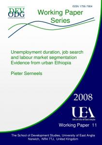 Unemployment duration, job search and labour market ... - UEA