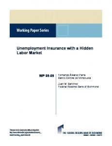 Unemployment Insurance with a Hidden Labor Market
