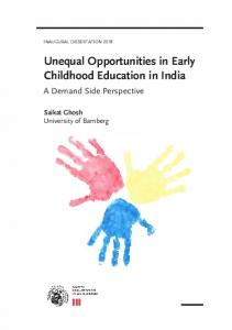 Unequal Opportunities in Early Childhood Education in India - OPUS 4