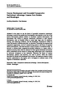 Uneven Development and Grounded Comparative ... - Springer Link