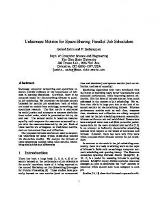 Unfairness Metrics for Space-Sharing Parallel Job Schedulers