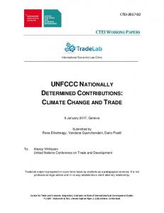 UNFCCC Nationally Determined Contributions: Climate Change and ...