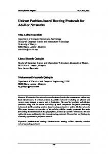 Unicast Position-based Routing Protocols for Ad-Hoc Networks
