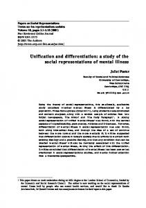 Unification and differentiation - Papers on Social Representations