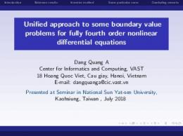 Unified approach to some boundary value problems ...