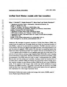 Unified Dark Matter models with fast transition