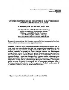 unified methods for computing compressible and incompressible flows