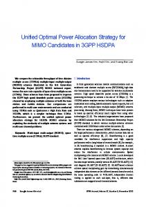 Unified Optimal Power Allocation Strategy for ... - Semantic Scholar
