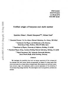 Unified origin of baryons and dark matter