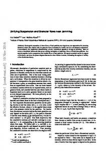 Unifying Suspension and Granular flows near Jamming