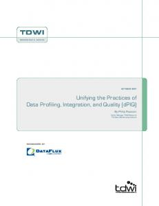 Unifying the Practices of Data Profiling, Integration, and Quality (dPIQ)