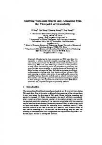 Unifying Web-scale Search and Reasoning from ... - Semantic Scholar