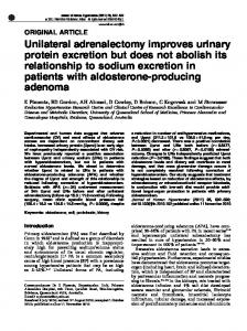 Unilateral adrenalectomy improves urinary protein excretion ... - Nature