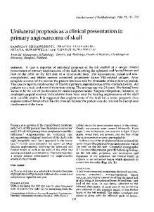 Unilateral proptosis as a clinical presentation in primary ... - Europe PMC