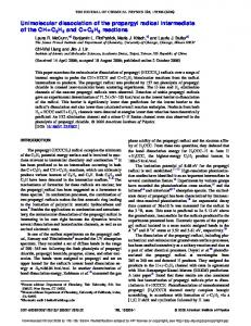 Unimolecular dissociation of the propargyl radical ... - Semantic Scholar