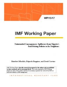 Unintended Consequences: Spillovers from Nigeria's Fuel Pricing